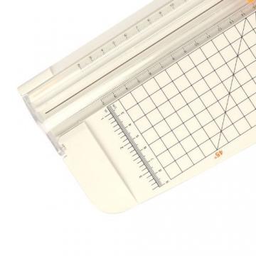 LAGUTE AZ-101 A4 Rollenschneider, Papier & Foto Schneidegerät Schneidemaschine Papierschneider, Schnittlänge 320mm, Schneidet bis zu 10 Blattes (70g/sm), Gewicht: 0.5KG Größe: 15*5.5inch *Weiß* -