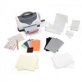 Sizzix Texture Boutique Embossing Maschine Starter Kit, weiß/grau -