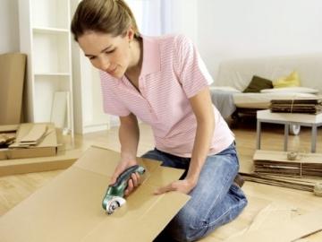Bosch DIY Akku-Universalschneider Xeo, Ladegerät für Karton und Teppich (3,6 V, max. Schnittstärke 6mm) -