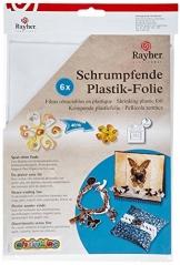 RAYHER - 89595701 - Schrumpfende Plastikfolie, 262x202mm, SB-Btl 6Stück, frost -