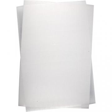 Schrumpffolienplatten, Blatt 20x30 cm, matt transparent, 10Blatt -