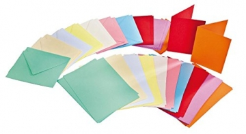 100tlg. Kartenset je 50 Karten & Umschläge farbig A6 & C6 VBS Großhandelspackung - 1