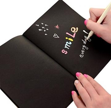 APOGO Metallic Marker Pens, Satz von 10 sortierten Farben metallischen Stift Marker für Kartenherstellung DIY Fotoalbum Gästebuch Gebrauch auf irgendeiner Oberfläche-Papier Glas Kunststoff Keramik Töpferei Stein Färbung Bücher. - 4