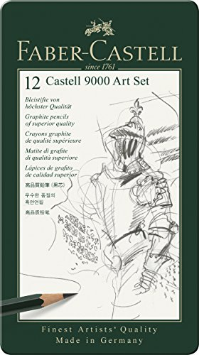 Faber-Castell 119065 - Bleistift CASTELL 9000, 12er Art Set, Inhalt 8B - 2H - 1
