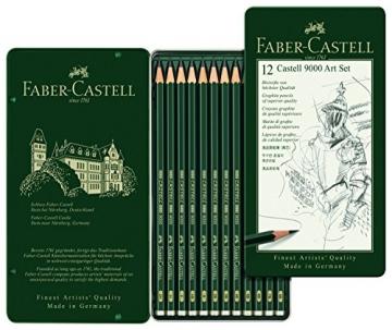 Faber-Castell 119065 - Bleistift CASTELL 9000, 12er Art Set, Inhalt 8B - 2H - 2