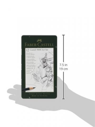 Faber-Castell 119065 - Bleistift CASTELL 9000, 12er Art Set, Inhalt 8B - 2H - 6