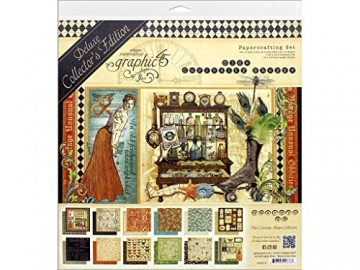 """Graphic 45 Deluxe Collector's Edition Pack 12""""X12""""-Olde Curiosity Shoppe - 1"""