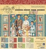 Graphic 45–Penny 's Papier Puppe Familie–20,3x 20,3cm Papier Pad - 1